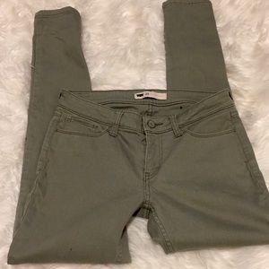 Levi's Skinny jeans in green size 29